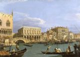 Canaletto: Bridge of Sighs, Venice (La Riva degli Schiavoni). Fine Art Print/Poster. Sizes: A4/A3/A2/A1 (003333)